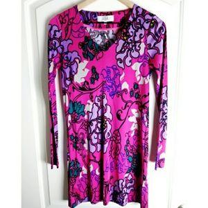 Tibi Silk A-line Floral Paisley Printed dress!